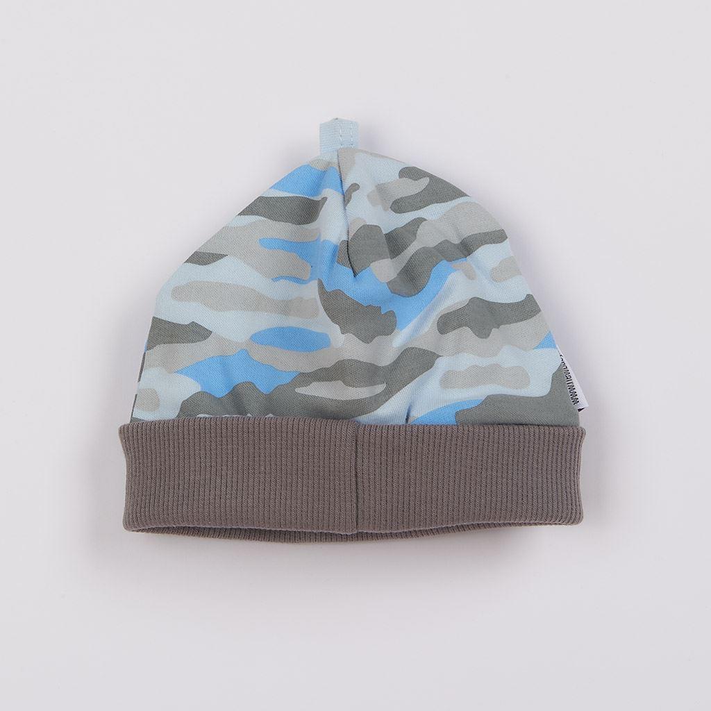Kojenecká bavlněná čepička New Baby With Love modrá, Velikost: 68 (4-6m)