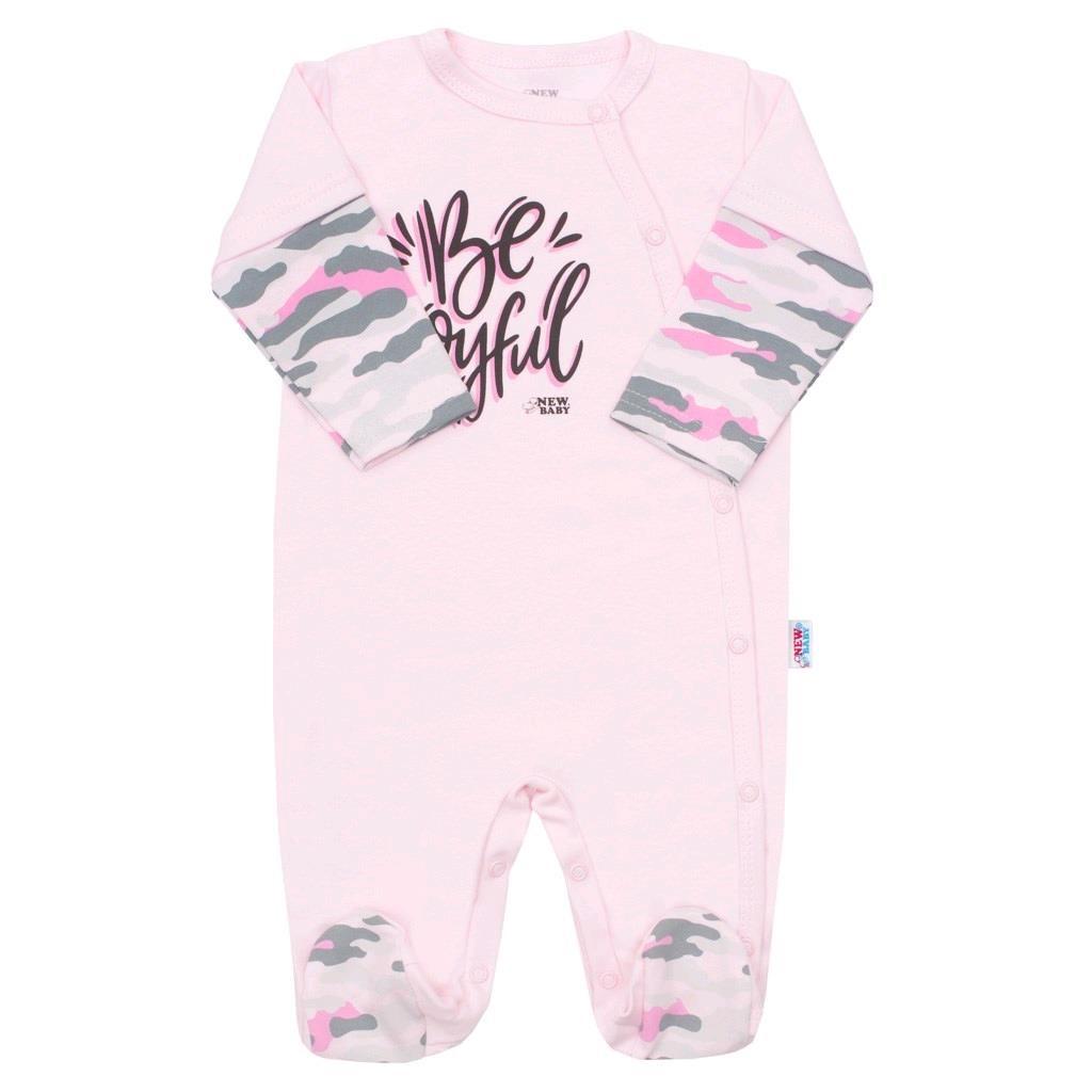 Kojenecký overal New Baby With Love růžový, vel. 68 (4-6m)