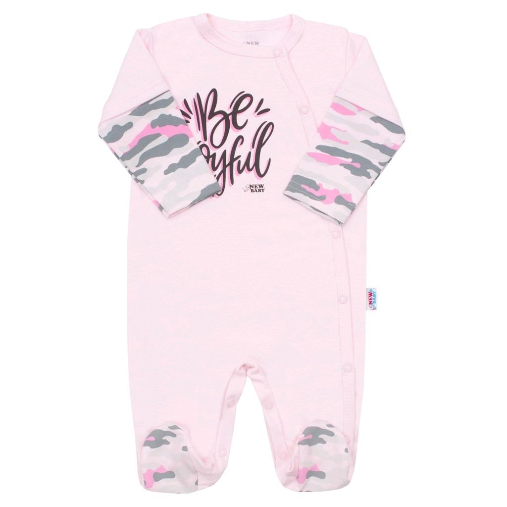 Kojenecký overal New Baby With Love růžový, vel. 80 (9-12m)