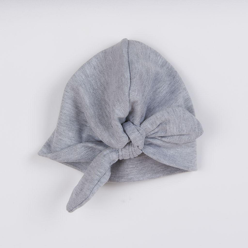 Kojenecké šatičky s čepičkou-turban New Baby Little Princess šedé vel. 62 (3-6m)