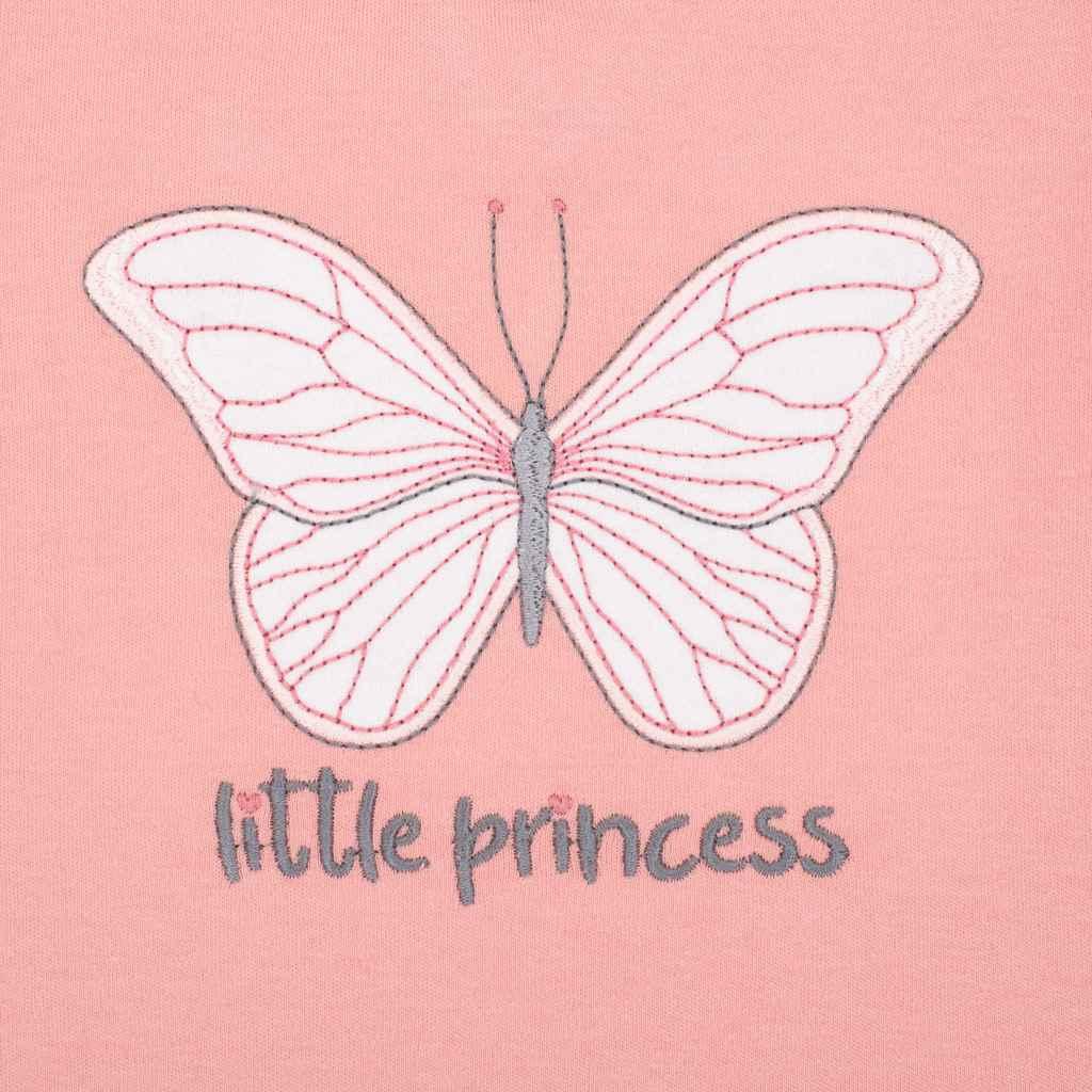 Kojenecké šatičky s čepičkou-turban New Baby Little Princess růžové vel. 68 (4-6m)