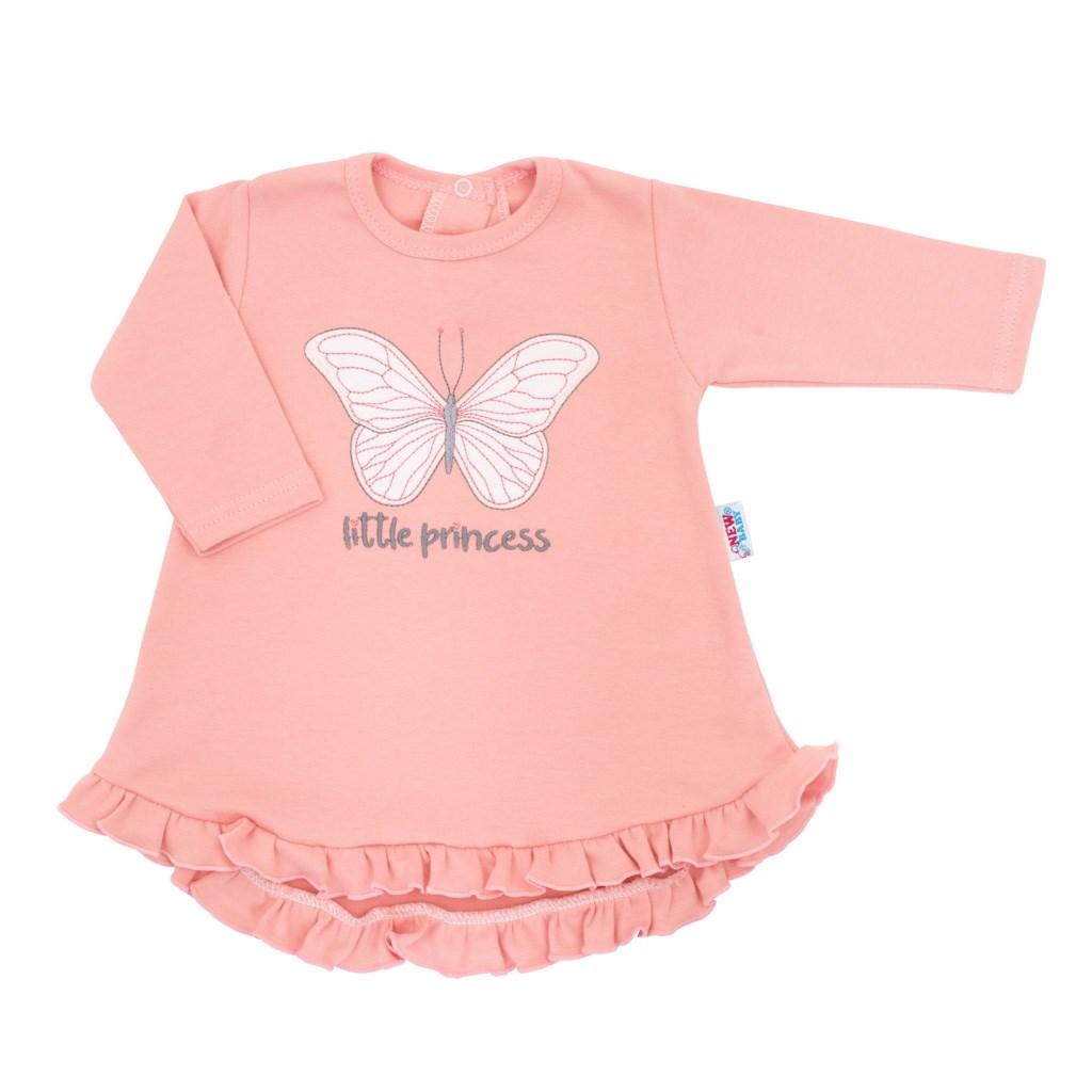 Kojenecké šatičky s čepičkou-turban New Baby Little Princess růžové vel. 74 (6-9m)