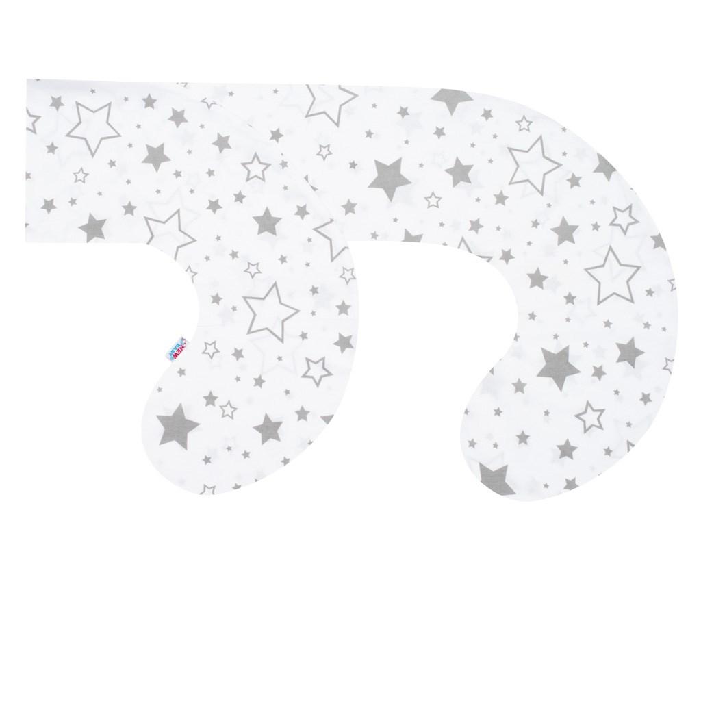 Povlak na kojící polštář ve tvaru C New Baby Hvězdy šedé
