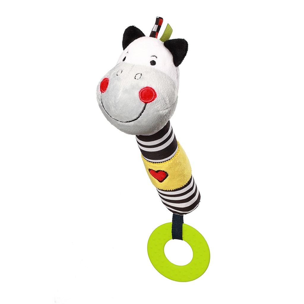Plyšová pískací hračka s kousátkem Baby Ono zebra Zack