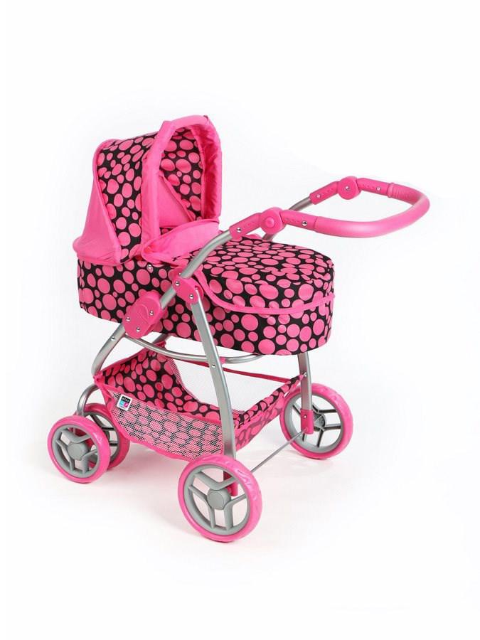 Multifunkční kočárek pro panenky PlayTo Jasmínka růžový (poškozený obal)