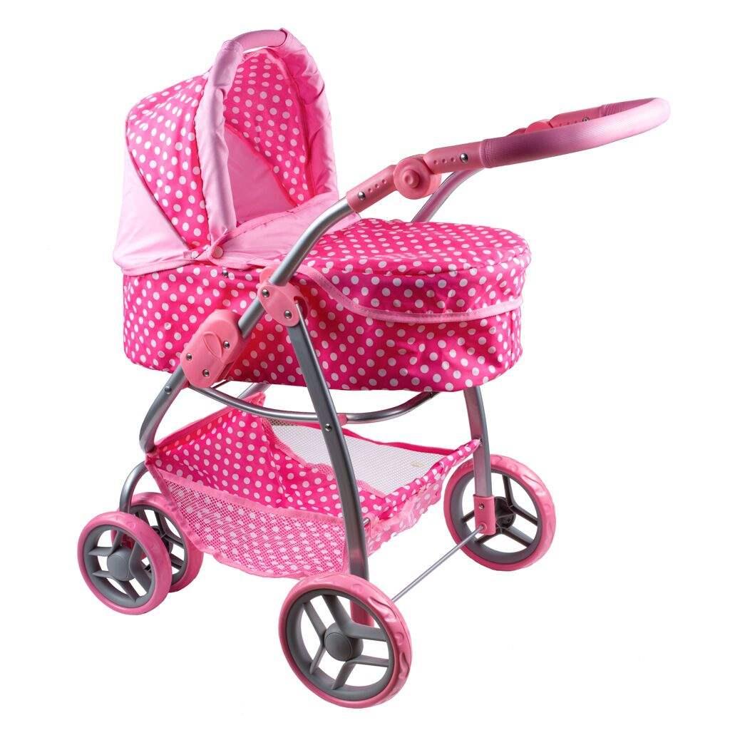 Multifunkční kočárek pro panenky PlayTo Jasmínka světle růžový (poškozený obal)