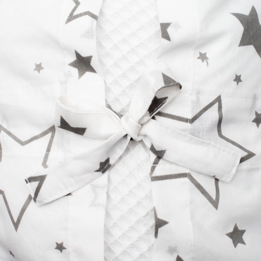 Klasická šněrovací zavinovačka New Baby Vafle bílá hvězdičky šedé