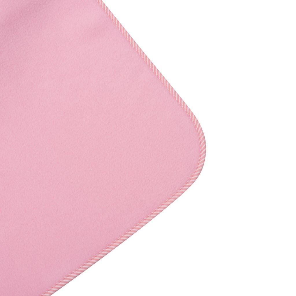 Dětská fleecová deka New Baby 100x75 růžová proužky