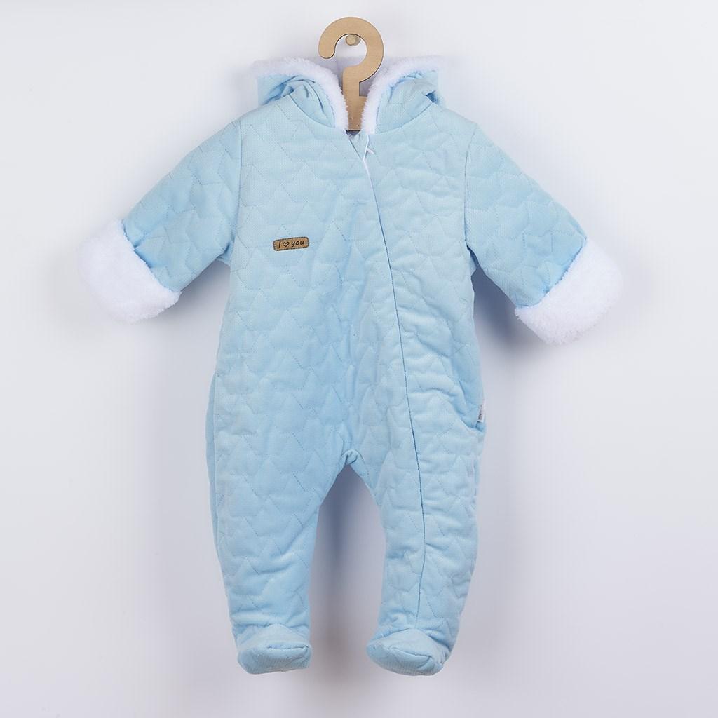 Zimní kojenecký overal Nicol Kids Winter modrý, Velikost: 56 (0-3m)