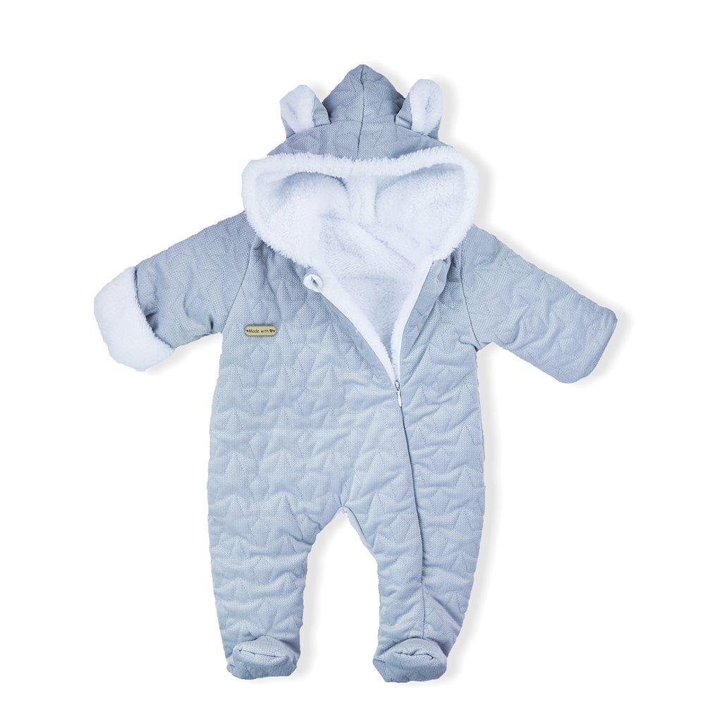 Zimní kojenecký overal Nicol Kids Winter šedý, 56 (0-3m)