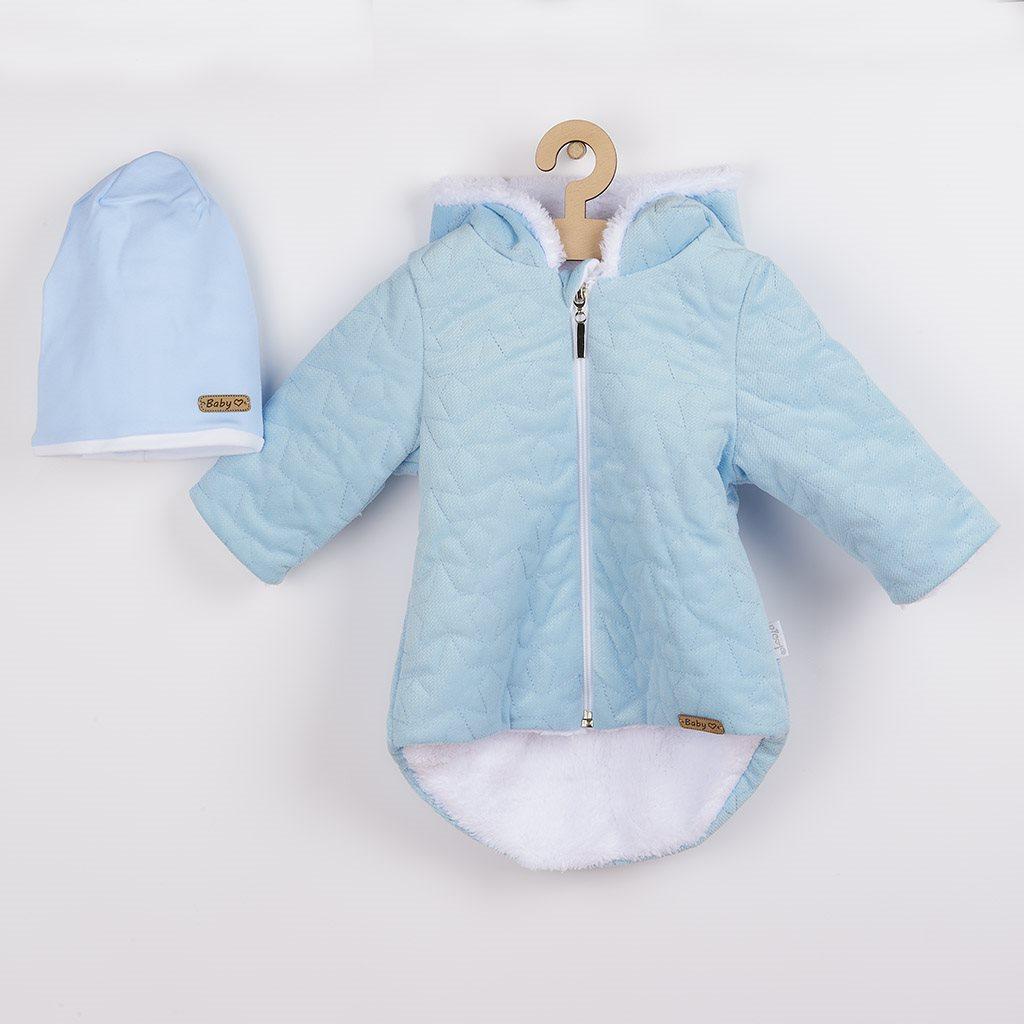 Zimní kojenecký kabátek s čepičkou Nicol Kids Winter modrý, 68 (4-6m)