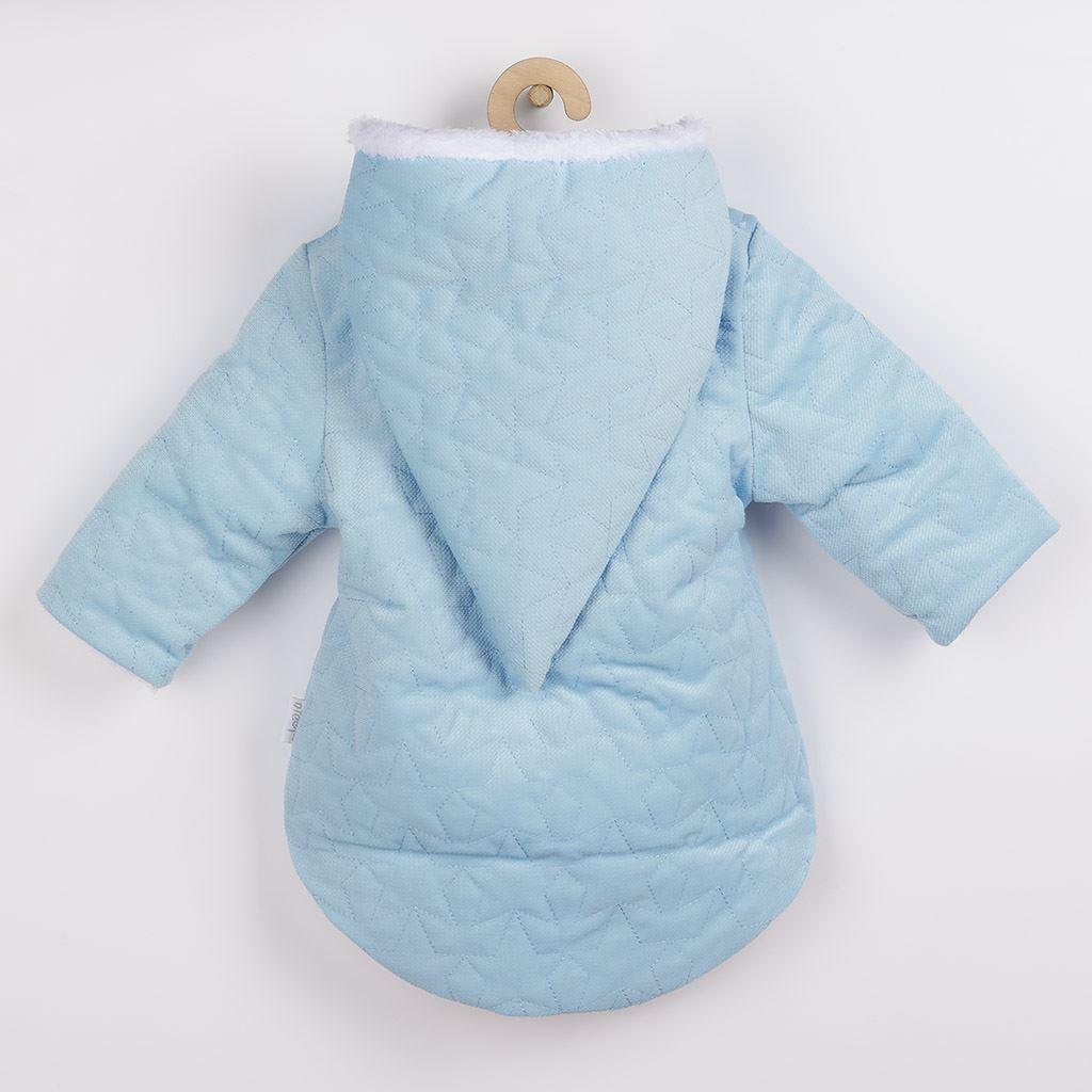 Zimní kojenecký kabátek s čepičkou Nicol Kids Winter modrý, 74 (6-9m)