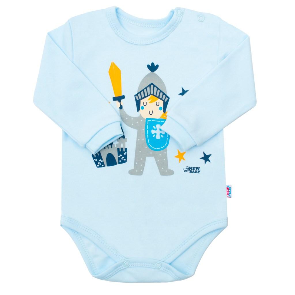 Kojenecké bavlněné body s dlouhým rukávem New Baby Knight