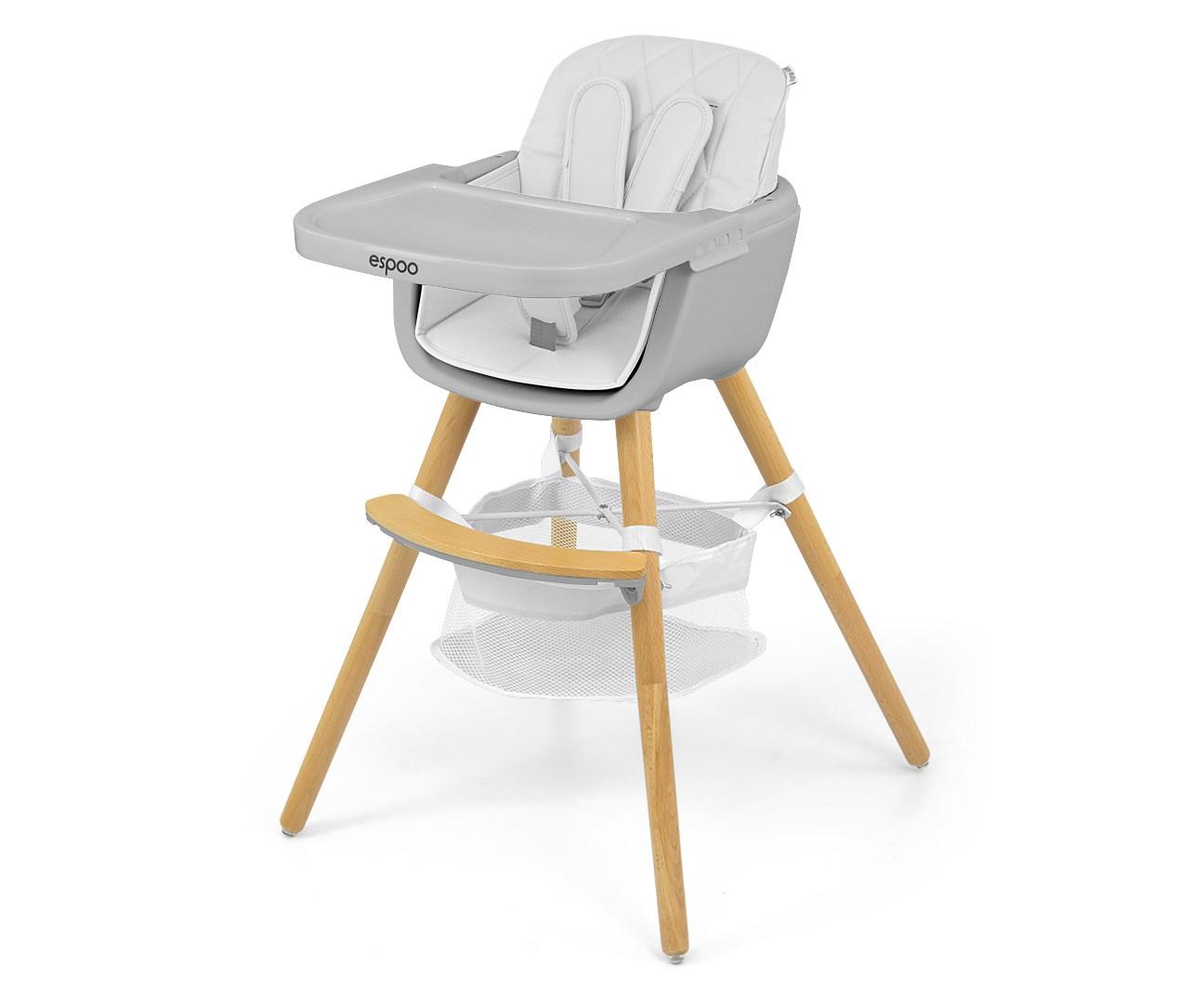 Jídelní židlička Milly Mally 2v1 Espoo bílá
