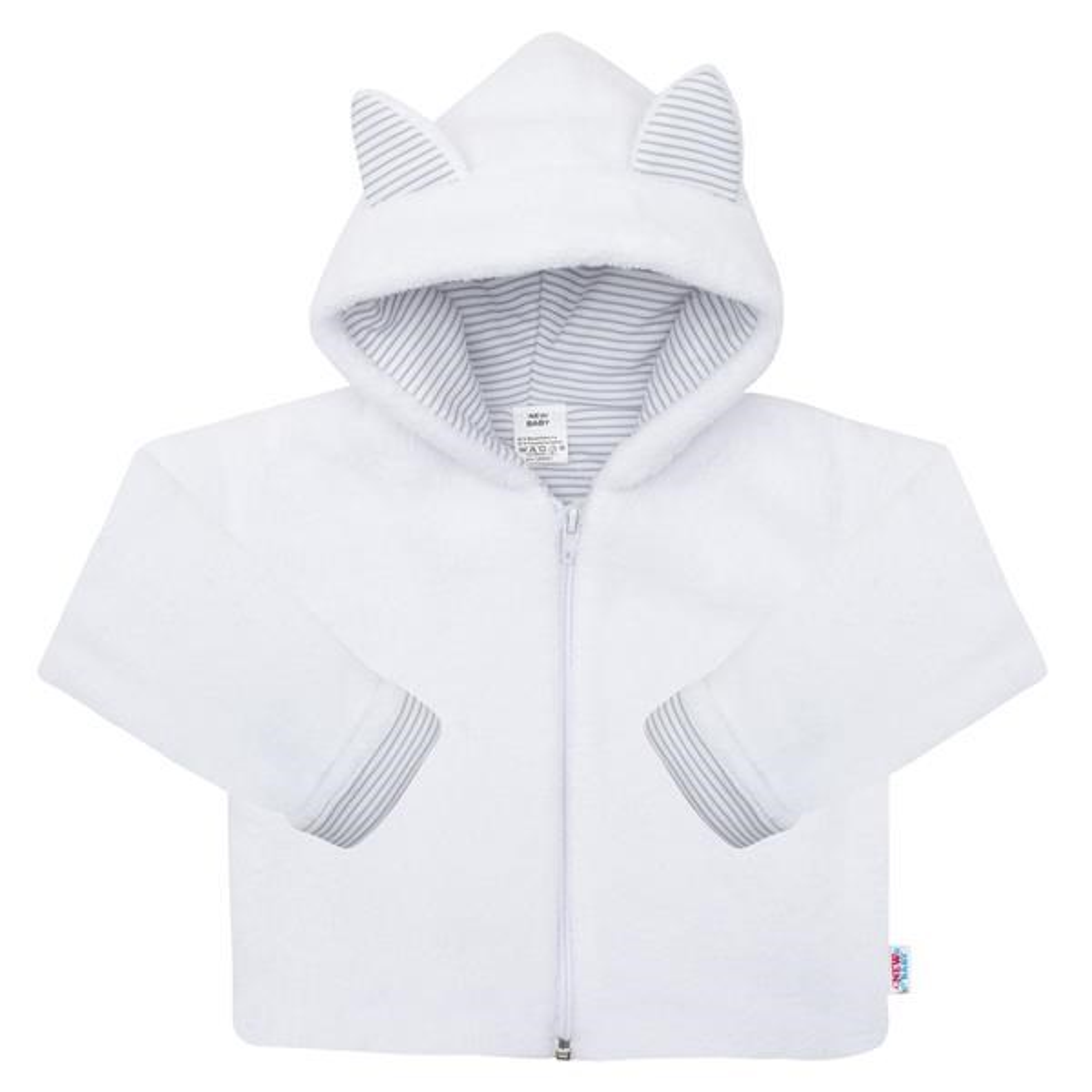 Luxusní dětský zimní kabátek s kapucí New Baby Snowy collection, Velikost: 56 (0-3m)