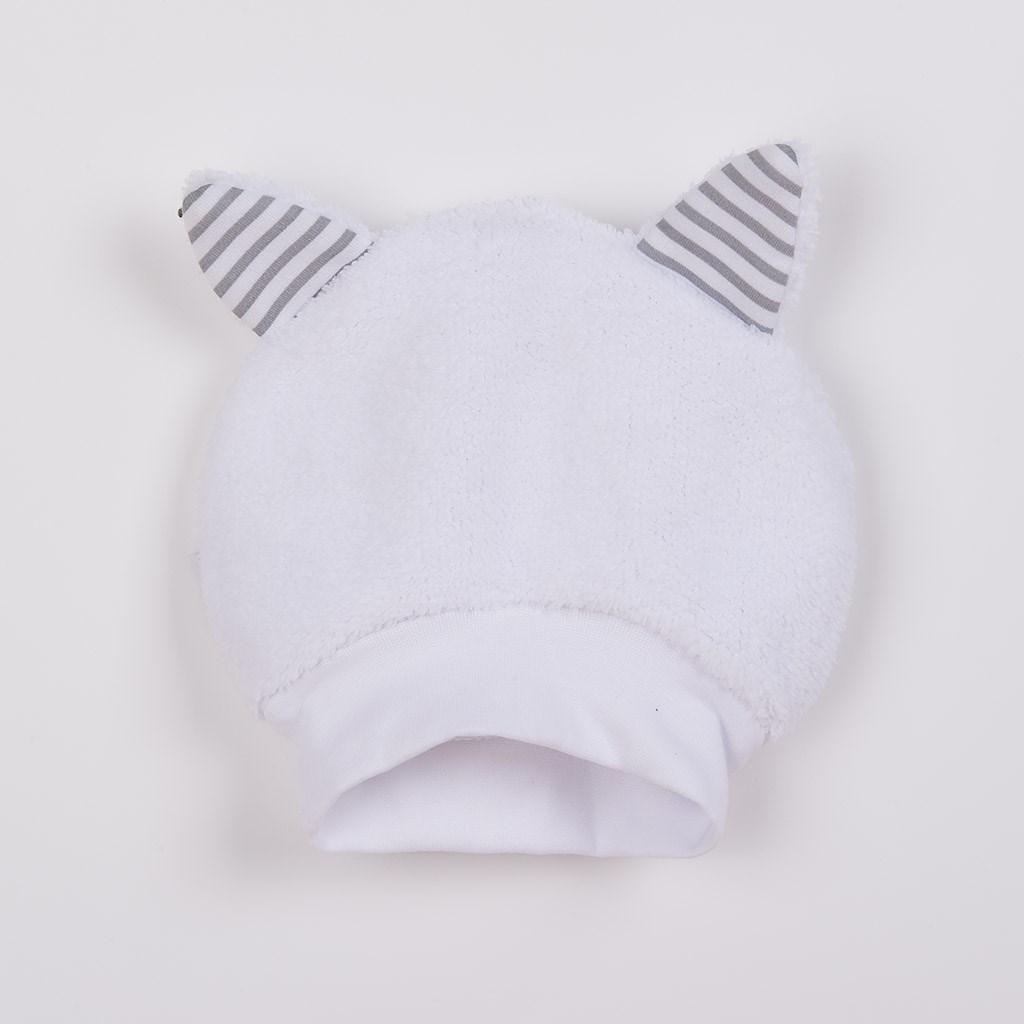 Luxusní dětská zimní čepička s oušky New Baby Snowy collection, 56 (0-3m)