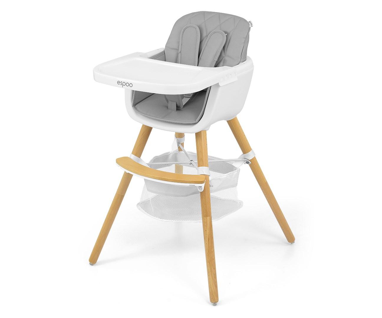 Jídelní židlička Milly Mally 2v1 Espoo šedá