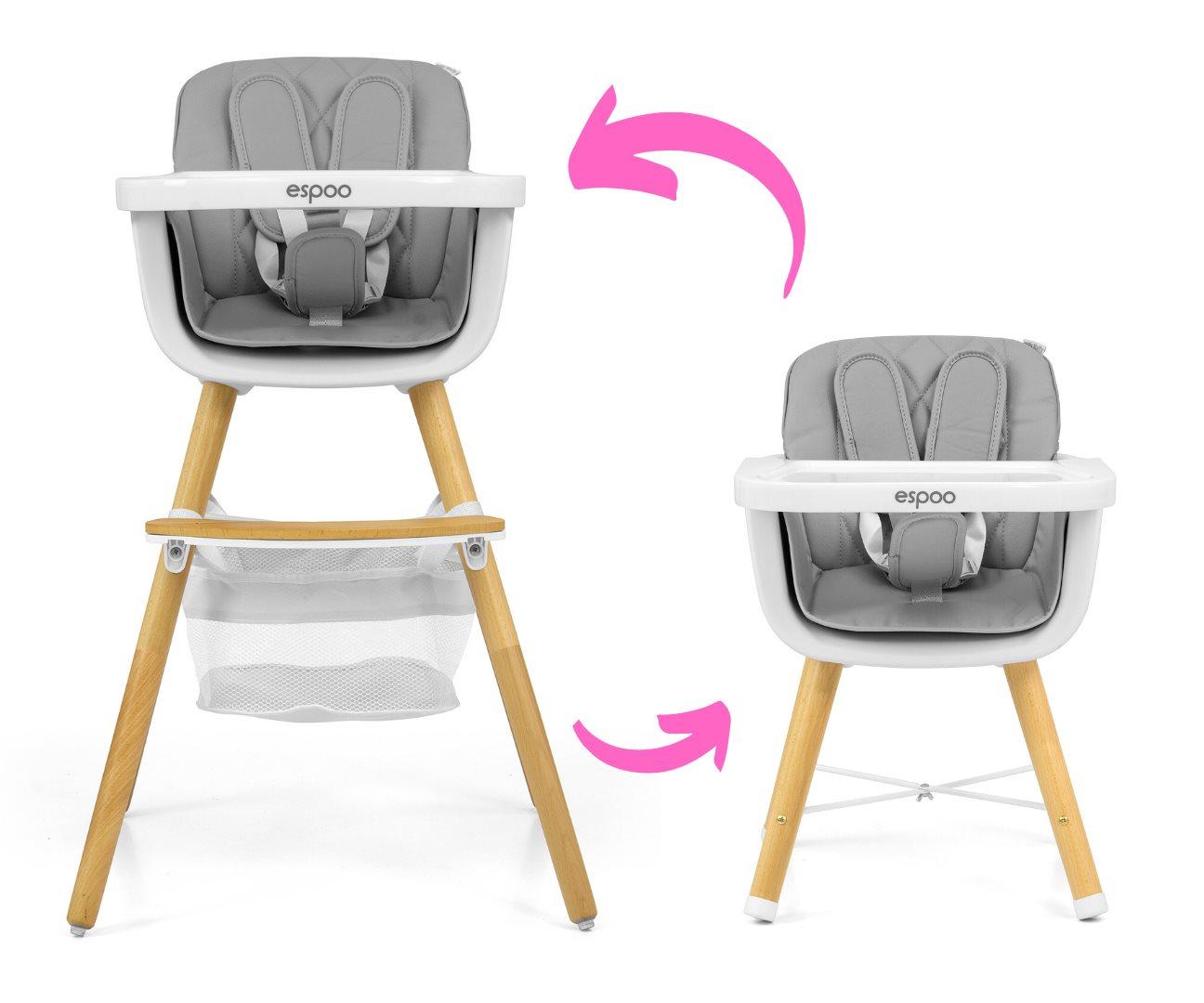 Jídelní židlička Milly Mally 2v1 Espoo modrá