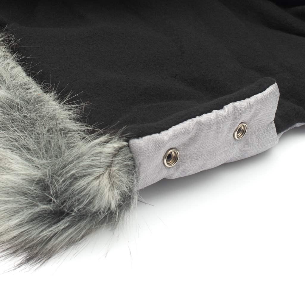 Rukávník na kočárek 2v1 New Baby s kožešinkou grey