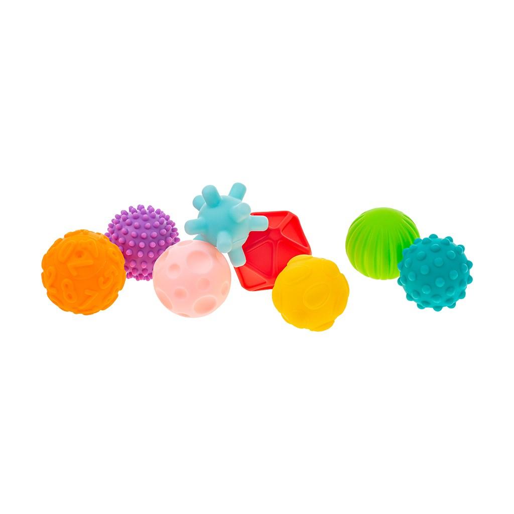 Sada senzorických hraček 8ks Akuku balónky