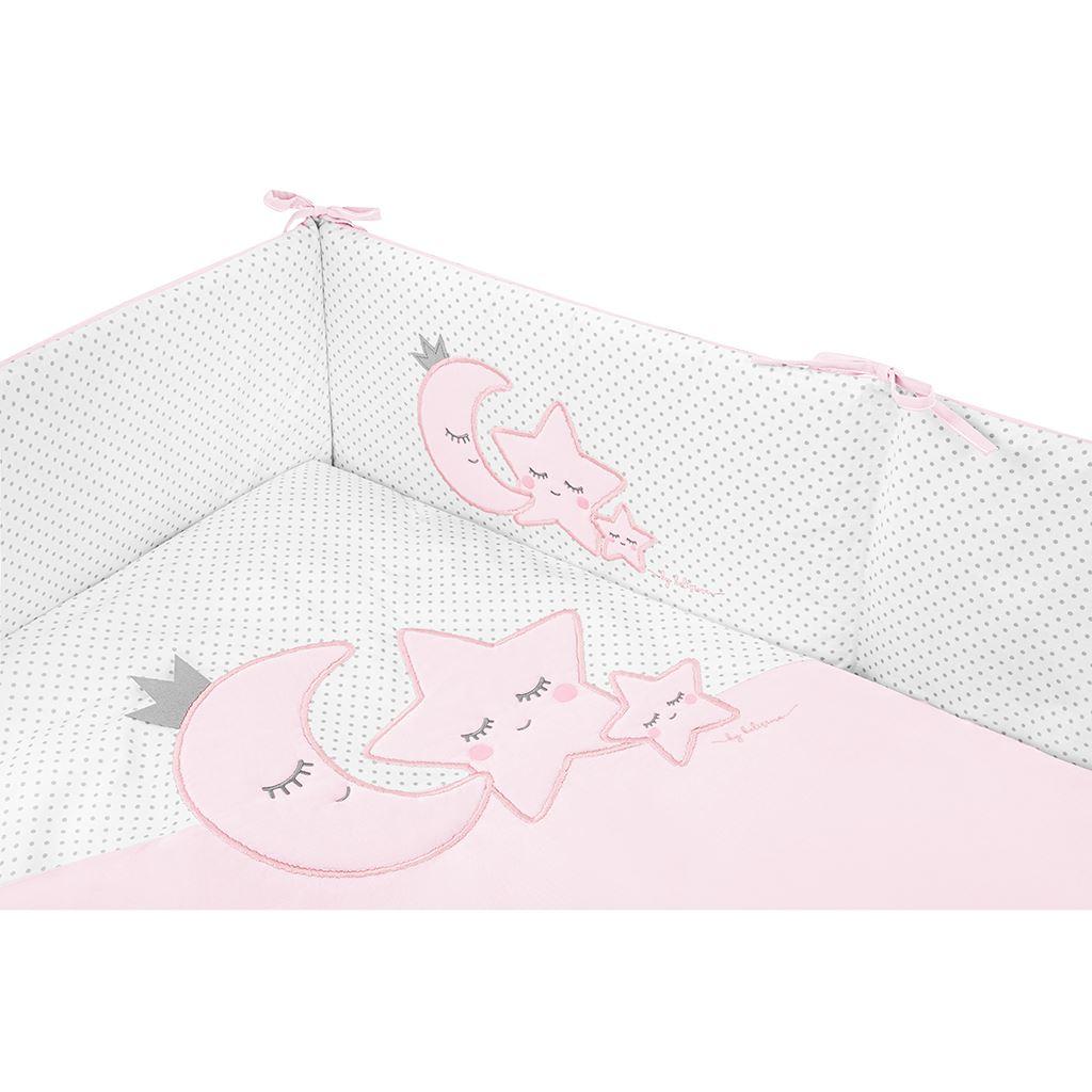 3-dílné ložní povlečení Belisima Magic Stars 90/120 růžové