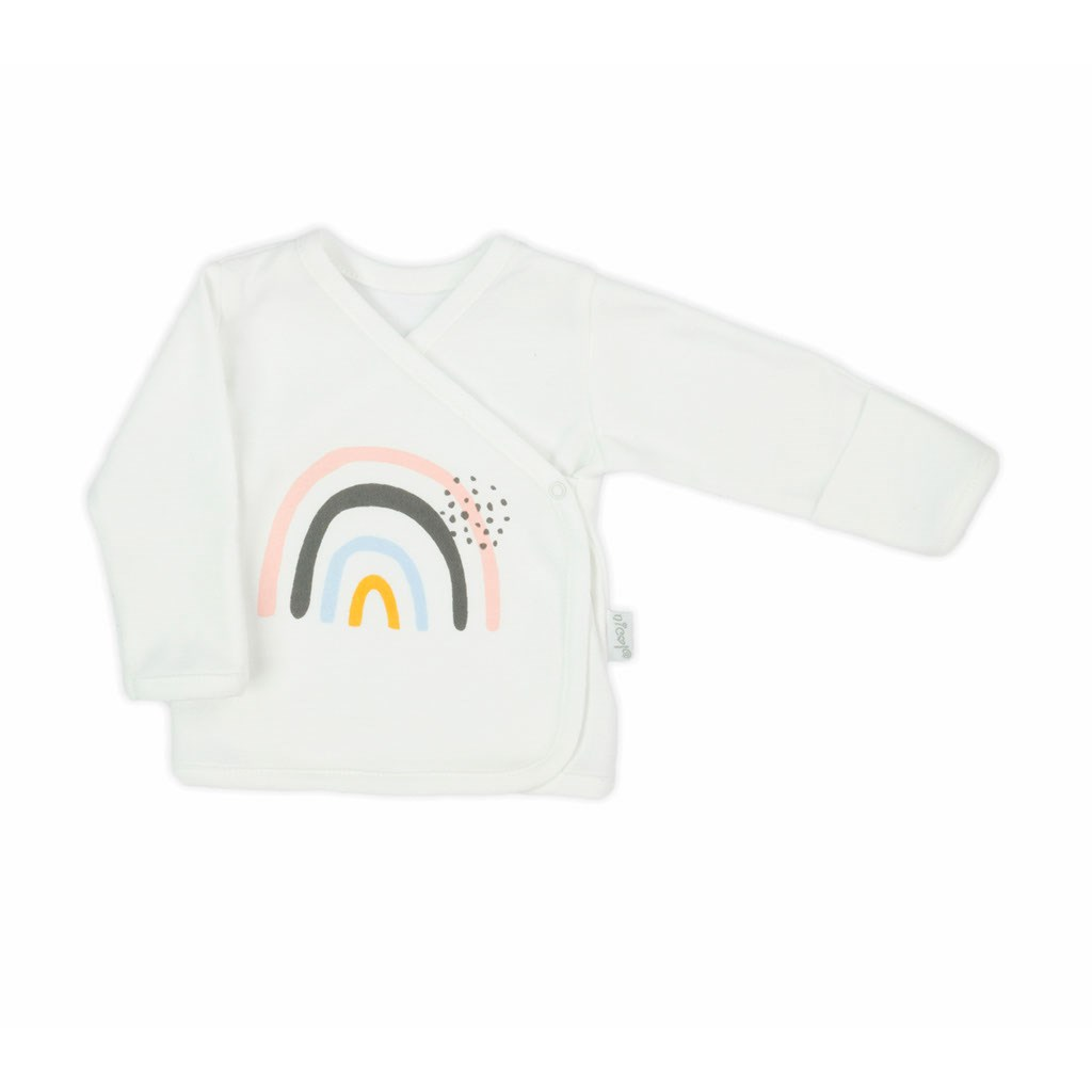 Kojenecká bavlněná košilka Nicol Rainbow, 56 (0-3m)