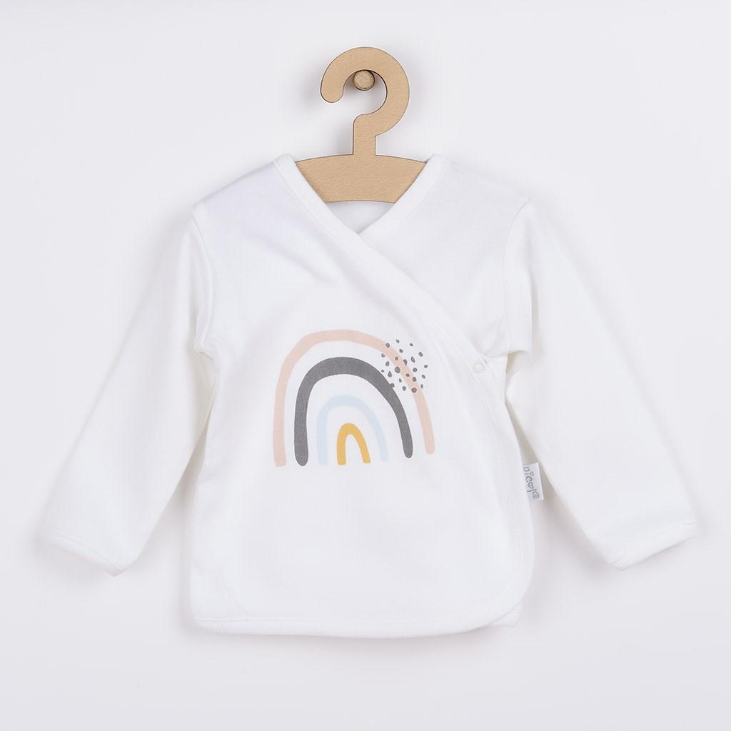 Kojenecká bavlněná košilka Nicol Rainbow