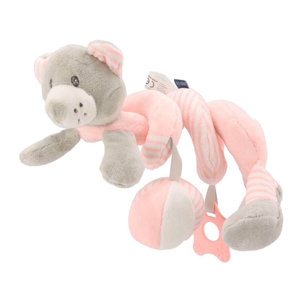 Hračka na postýlku Spirála Baby Mix medvěd růžový