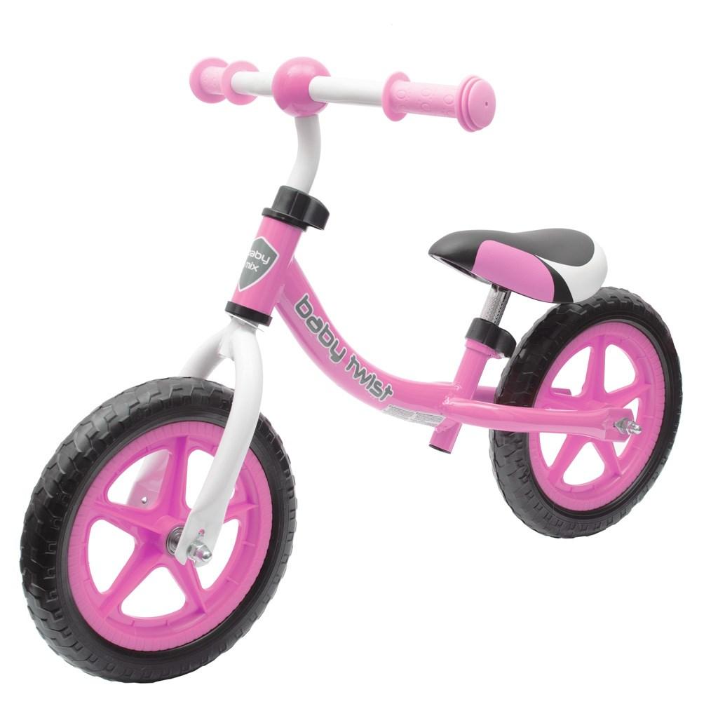Dětské odrážedlo kolo Baby Mix TWIST růžové
