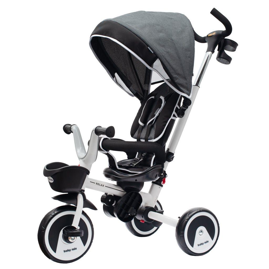 Dětská tříkolka Baby Mix 5v1 RELAX 360° bílá