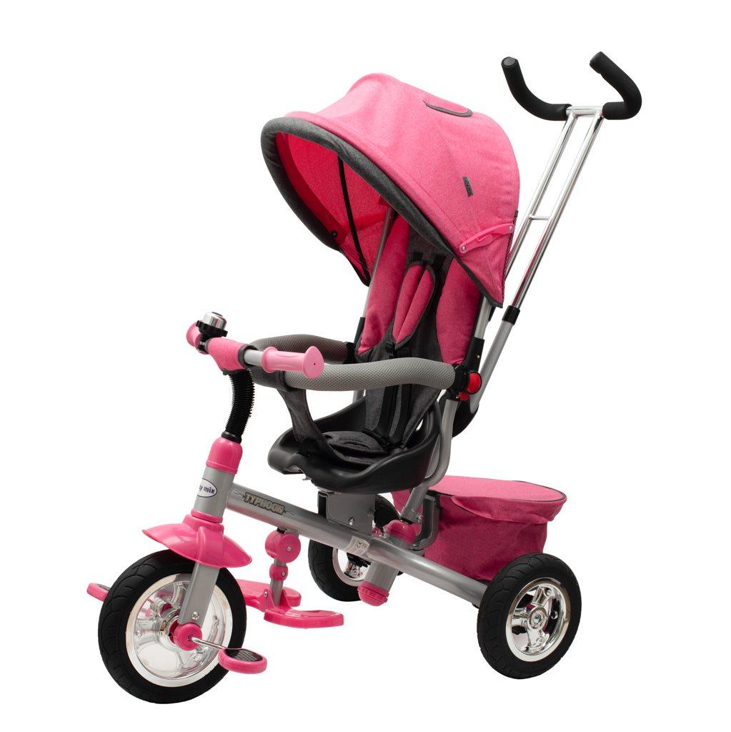 Dětská tříkolka Baby Mix 3v1 TYPHOON 360° růžová