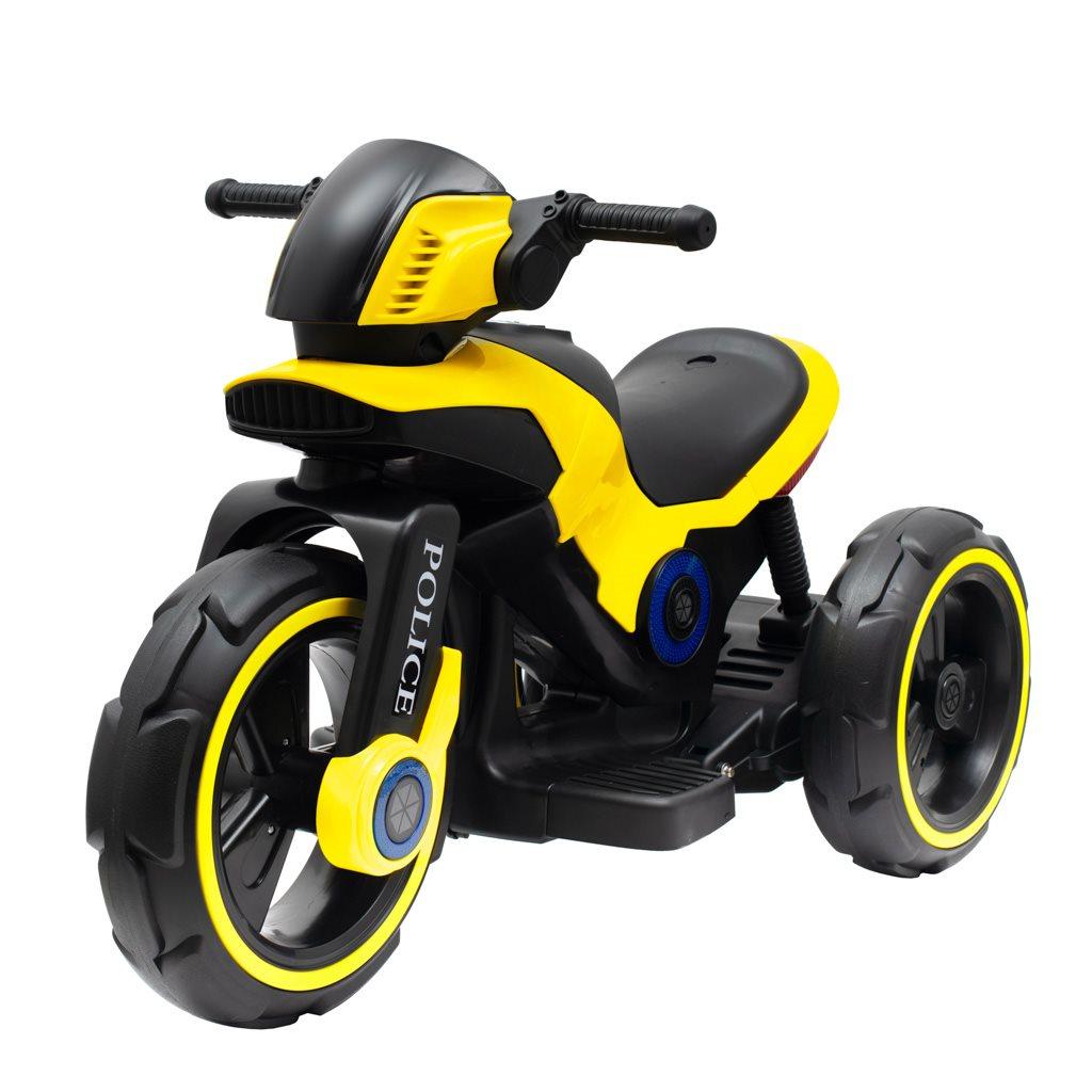 Dětská elektrická motorka Baby Mix POLICE žlutá