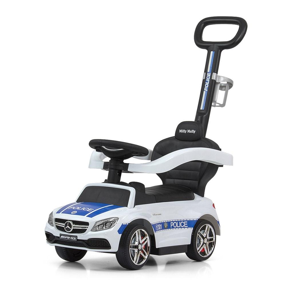 Odrážedlo s vodící tyčí Mercedes Benz AMG C63 Coupe Milly Mally Police