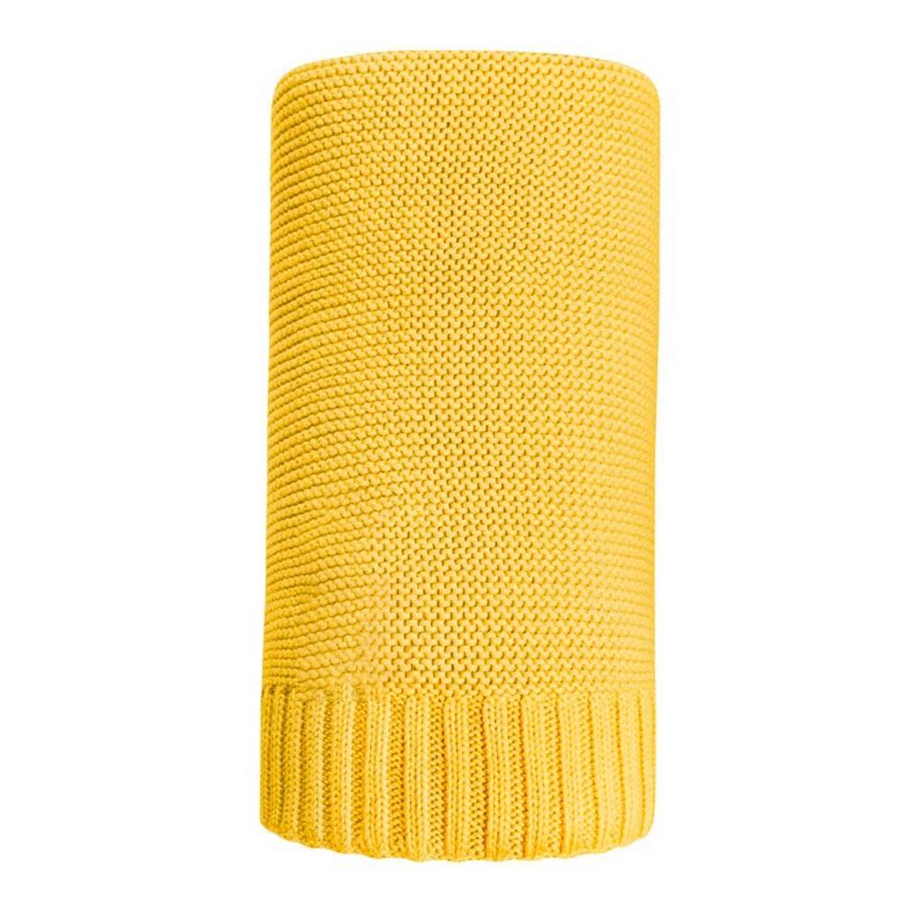 Bambusová pletená deka NEW BABY 100x80 cm žlutá