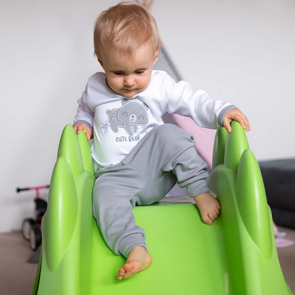2-dílná kojenecká bavlněná soupravička New Baby Cute Bear vel. 56 (0-3m)