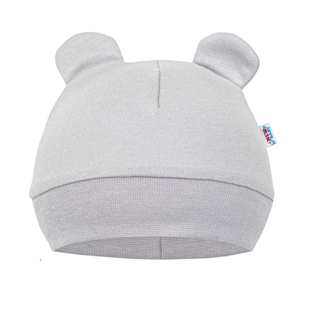 Kojenecká bavlněná čepička New Baby Cute Bear, vel. 86 (12-18m)