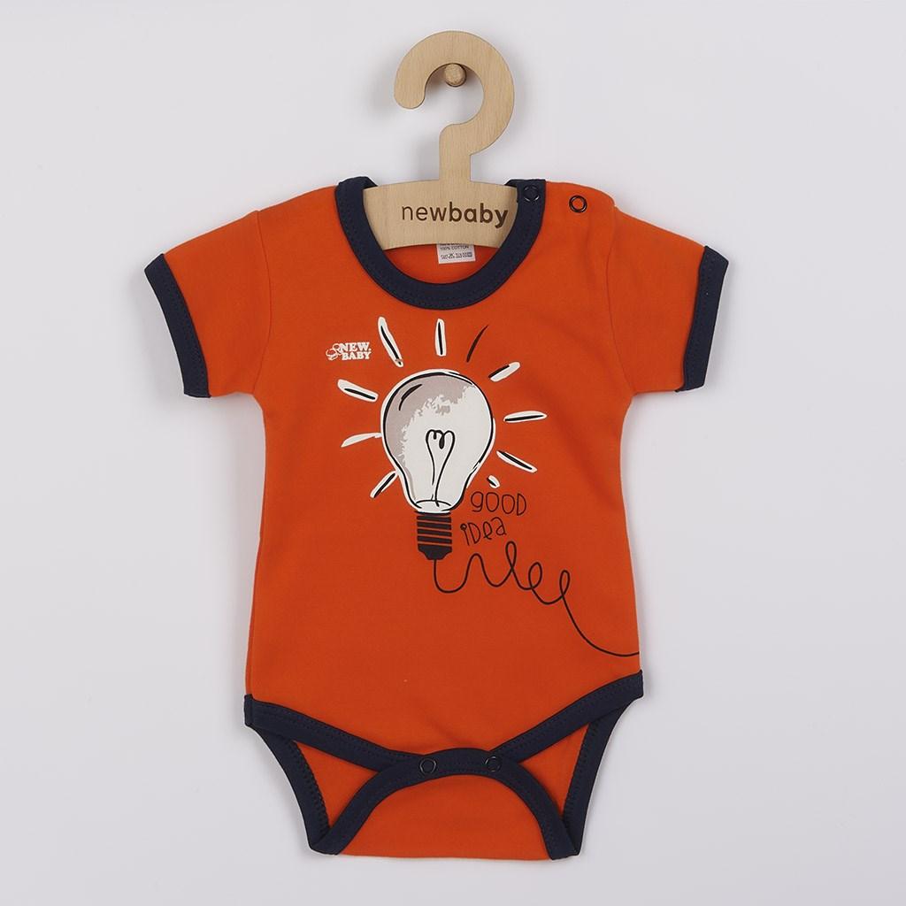 Kojenecké bavlněné body s krátkým rukávem New Baby Happy Bulbs, 62 (3-6m)
