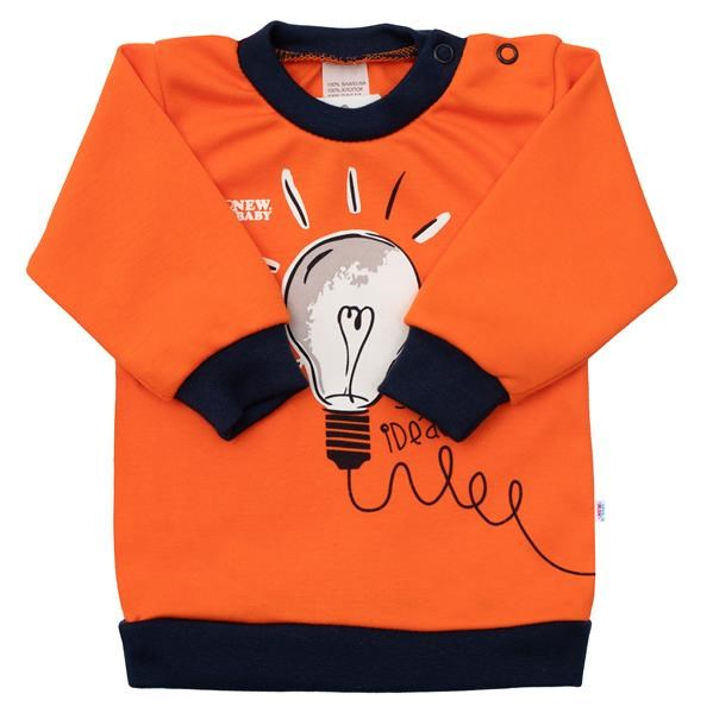 Kojenecké bavlněné tričko New Baby Happy Bulbs, 80 (9-12m)