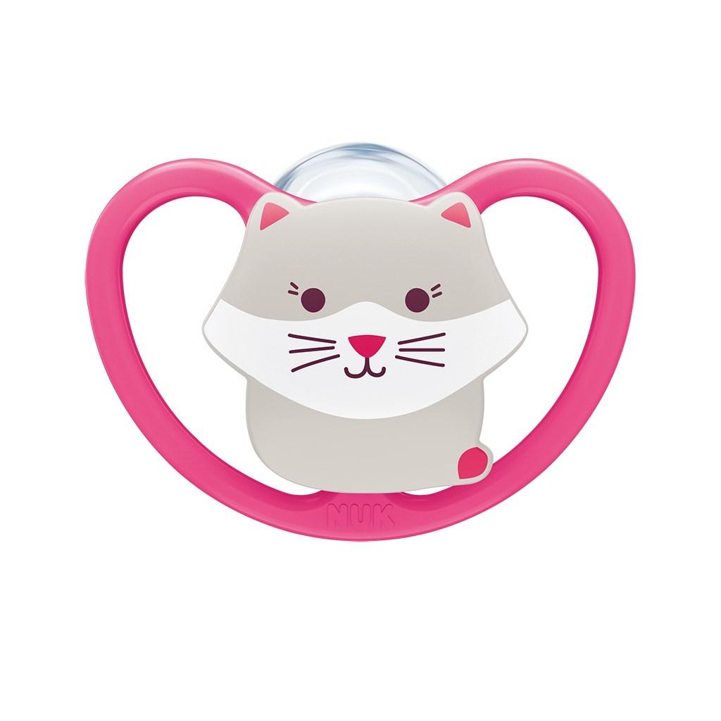 Šidítko Space NUk 6-18m kočička BOX holka