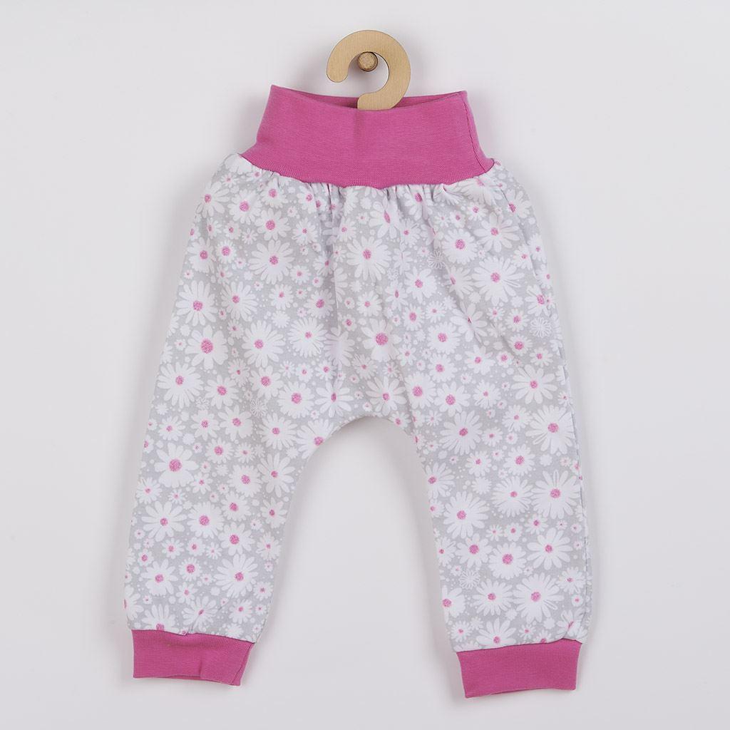 2-dílná kojenecká bavlněná souprava New Baby Happy Flower tmavě růžová vel. 62 (3-6m)