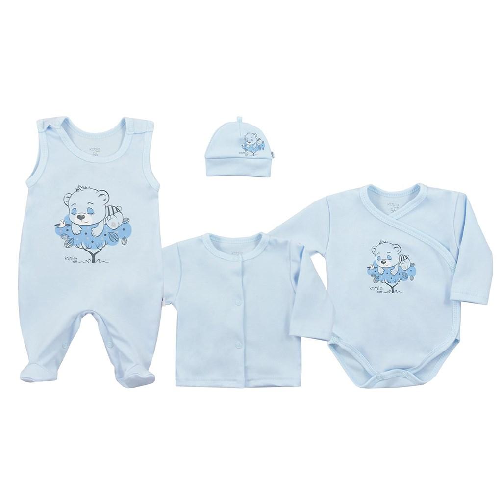 4-dílná kojenecká souprava Koala Sleeping Bear modrá, Velikost: 68 (4-6m)