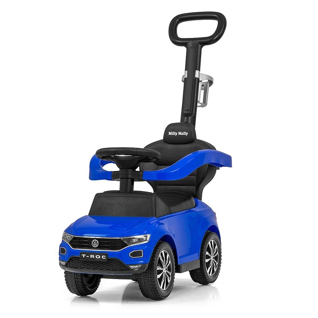 Odrážedlo s vodící tyčí VOLKSWAGEN T-ROC Milly Mally modré