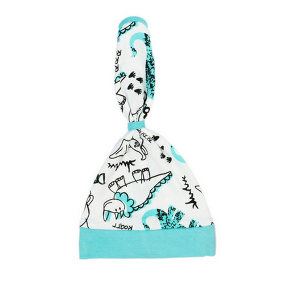 Kojenecká bavlněná čepička-šátek Nicol Dinosaur