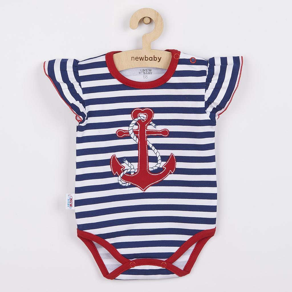 Holčičí body s krátkým rukávem New Baby Marine, Velikost: 68 (4-6m)