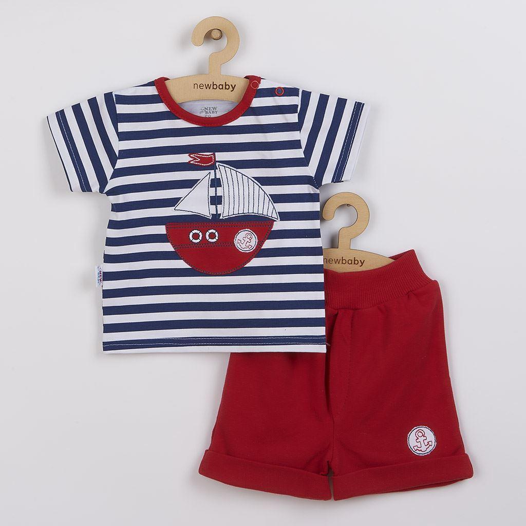 Kojenecká souprava tričko a kraťásky New Baby Marine vel. 74 (6-9m)