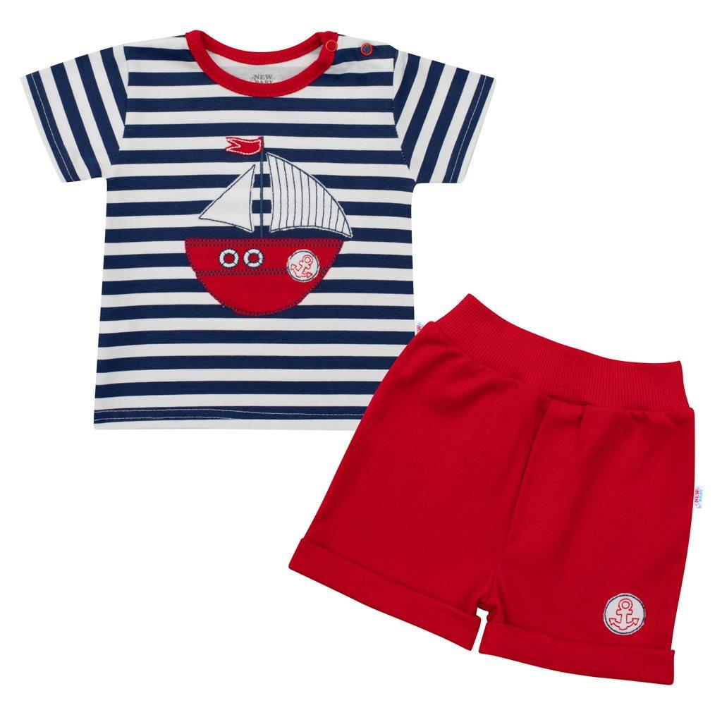 Kojenecká souprava tričko a kraťásky New Baby Marine vel. 80 (9-12m)