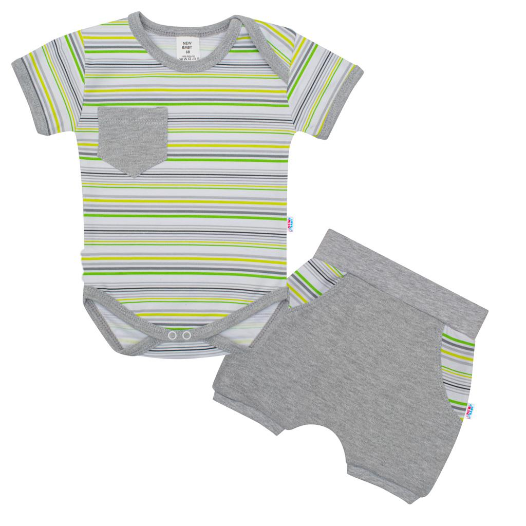 2-dílná letní bavlněná souprava New Baby Perfect Summer stripes vel. 62 (3-6m)