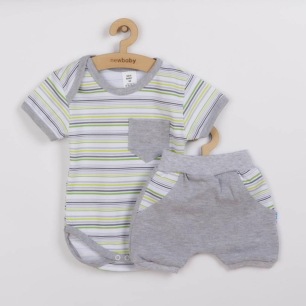 2-dílná letní bavlněná souprava New Baby Perfect Summer stripes vel. 80 (9-12m)