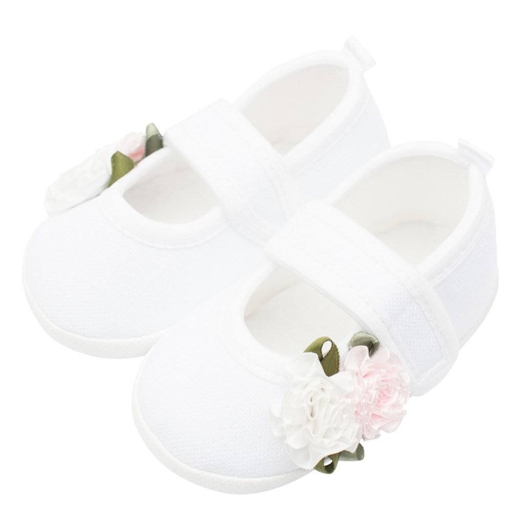 Kojenecké capáčky New Baby Linen bílé 6-12 m roses, 6-12 m