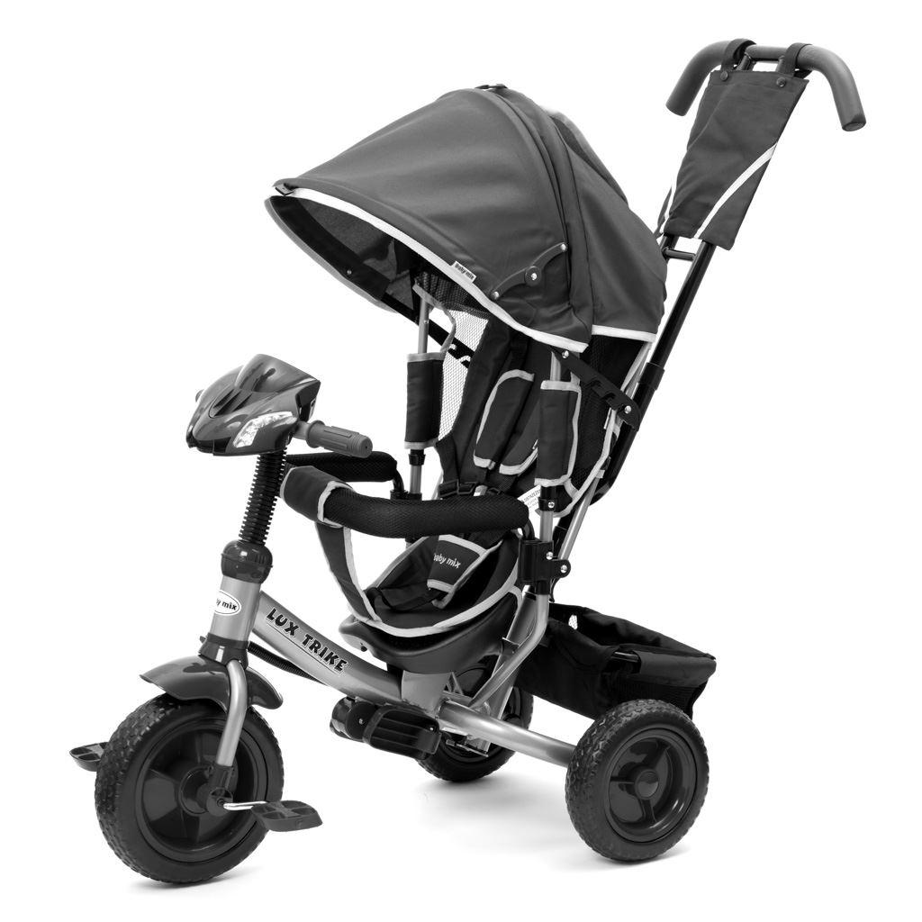Dětská tříkolka s LED světly Baby Mix Lux Trike tmavě šedá